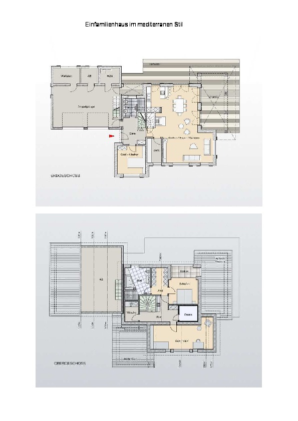 einfamilienhaus im mediterranen stil ais. Black Bedroom Furniture Sets. Home Design Ideas
